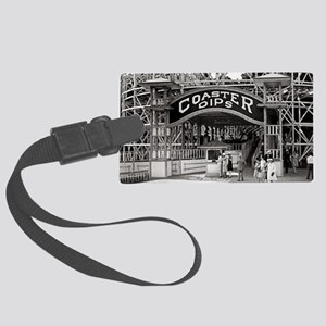 Wooden Roller Coaster, 1926 Large Luggage Tag