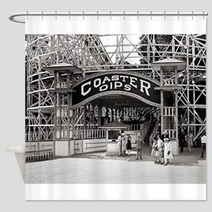 Wooden Roller Coaster, 1926 Shower Curtain