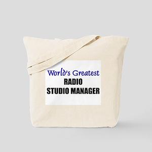 Worlds Greatest RADIO STUDIO MANAGER Tote Bag