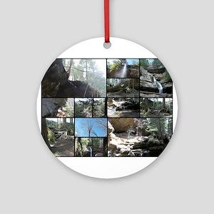 Hocking HIlls State Park Collage Round Ornament