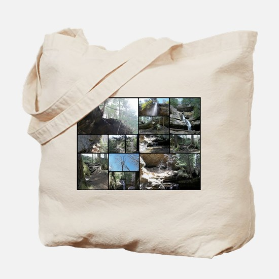Hocking HIlls State Park Collage Tote Bag