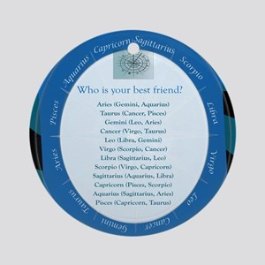 Who is your best friend? Round Ornament