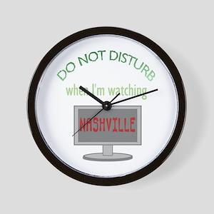 Do Not Disturb Watching Nashville Wall Clock
