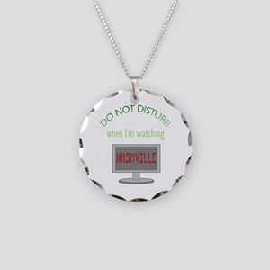Do Not Disturb Watching Nash Necklace Circle Charm