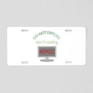 Do Not Disturb Watching Nas Aluminum License Plate