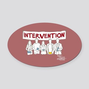 HIMYM Doodle Intervention Oval Car Magnet