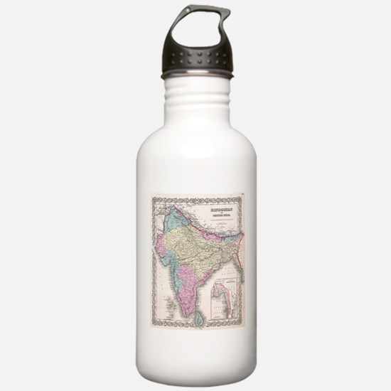 Vintage Map of India ( Water Bottle