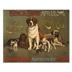 Boston Dog Show Small Poster