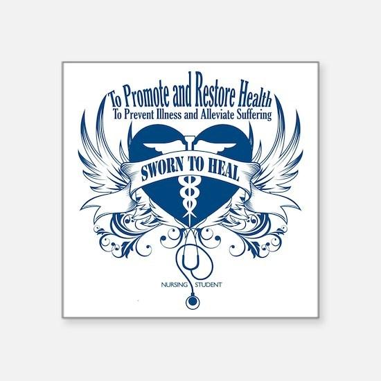 "Sworn to Heal Square Sticker 3"" x 3"""