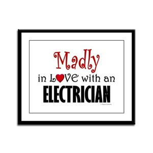 Madly In Love (Electrician) Framed Panel Print