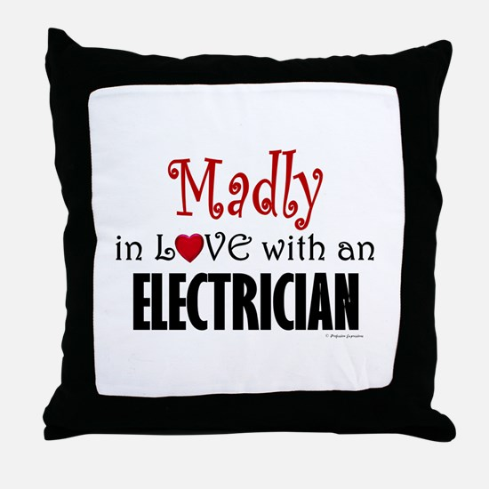 Madly In Love (Electrician) Throw Pillow