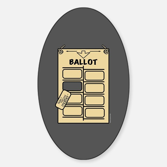 HIMYM Hanging Chad Sticker (Oval)