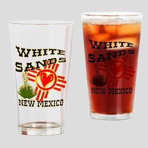 WHITE SANDS LOVE Drinking Glass