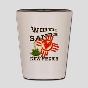 WHITE SANDS LOVE Shot Glass