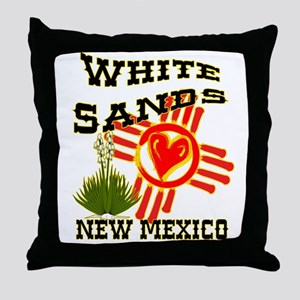 WHITE SANDS LOVE Throw Pillow
