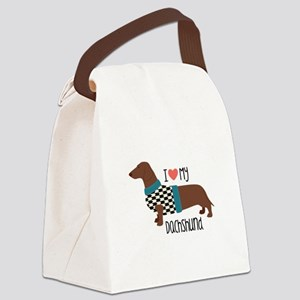 Love My Dachshund Canvas Lunch Bag