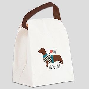 Love My Dachshund Canvas Lunch Bag