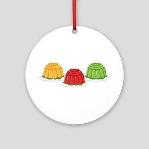 Jello Dessert Molds Round Ornament