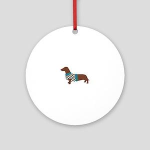 Dachshund Sweater Round Ornament