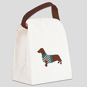 Dachshund Sweater Canvas Lunch Bag