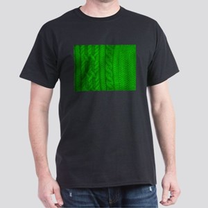 WOOL knit green cable design T-Shirt