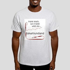 Newfie Travel Leash Light T-Shirt