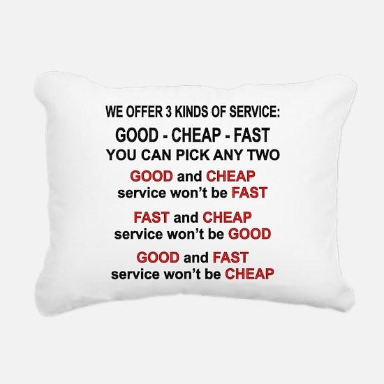 Good, Cheap, Fast Pick 2 Rectangular Canvas Pillow