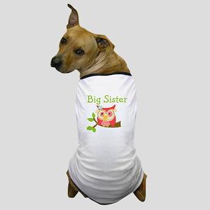 Owl Big Sister Dog T-Shirt