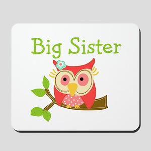 Owl Big Sister Mousepad