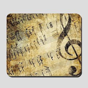 Grunge Music Note Mousepad