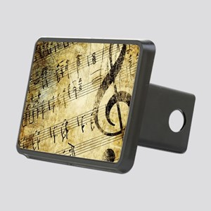 Grunge Music Note Rectangular Hitch Cover