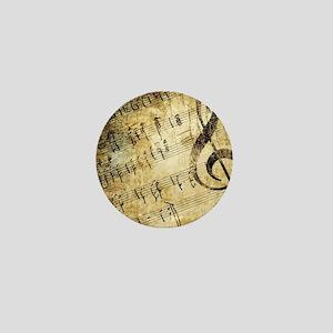 Grunge Music Note Mini Button