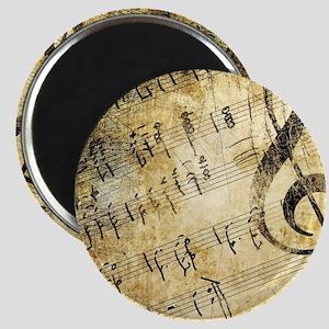 Grunge Music Note Magnet