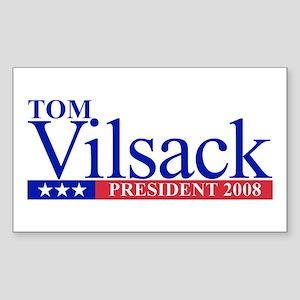 TOM VILSACK PRESIDENT 2008 Rectangle Sticker