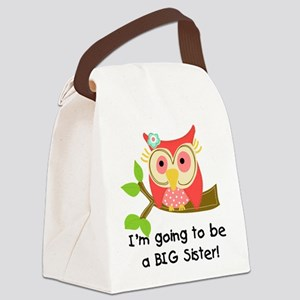 Owl Future Big Sister Canvas Lunch Bag