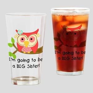 Owl Future Big Sister Drinking Glass