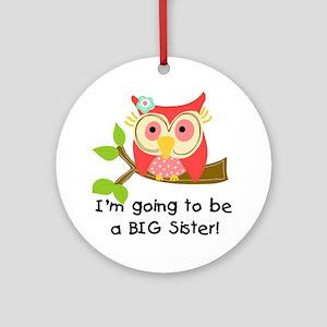 Owl Future Big Sister Round Ornament