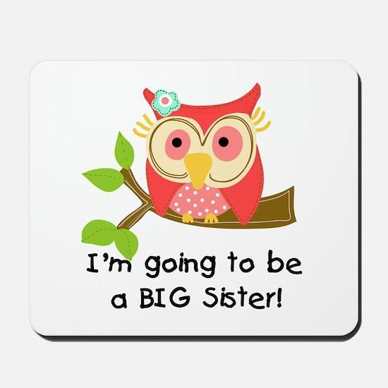 Owl Future Big Sister Mousepad