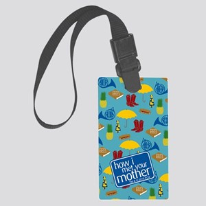 HIMYM Pattern Large Luggage Tag