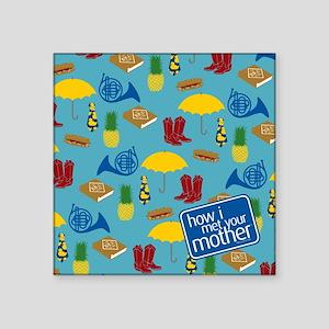 "HIMYM Pattern Square Sticker 3"" x 3"""