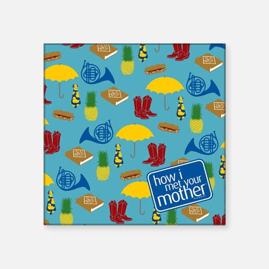 "HIMYM Pattern Square Sticker 3"" x 3"""