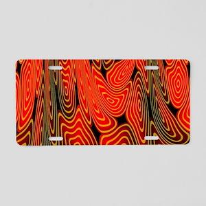 Molten lava Aluminum License Plate