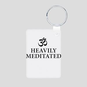 Heavily Meditated - funny yoga Keychains