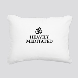 Heavily Meditated - funny yoga Rectangular Canvas