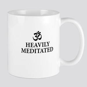Heavily Meditated - funny yoga Mugs