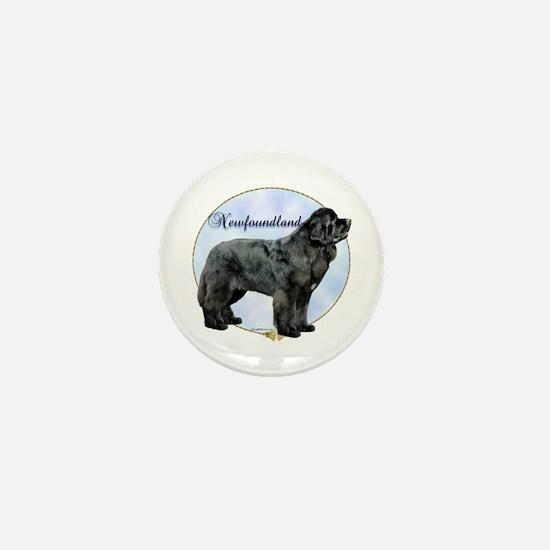 Newfie Portrait Mini Button
