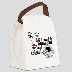 Mascara Coffee Canvas Lunch Bag