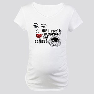 Mascara Coffee Maternity T-Shirt