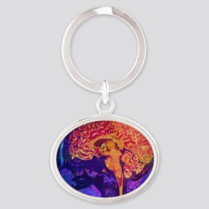Climb into Thoughts Oval Keychain
