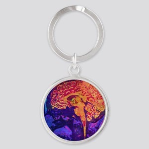Climb into Thoughts Round Keychain